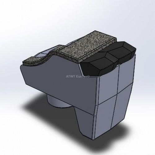 Hammer fitting to F-A-E, U, UML en UMM, with 2 carbide tips and 3 layers of CGP, right